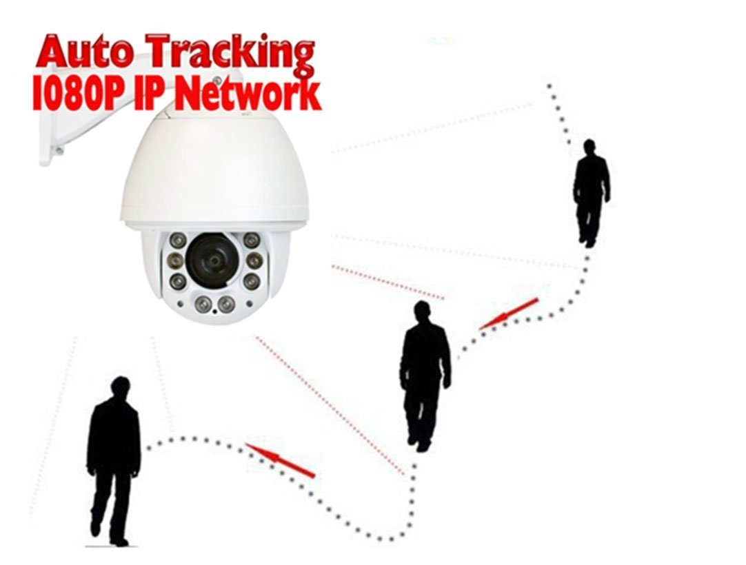 Gw Security Auto Tracking 2mp Hd 1080p Onvif Outdoor Video Camera Wire Diagram Further Ptz Wiring Indoor Pan Tilt Zoom Ip 20x Optical Photo