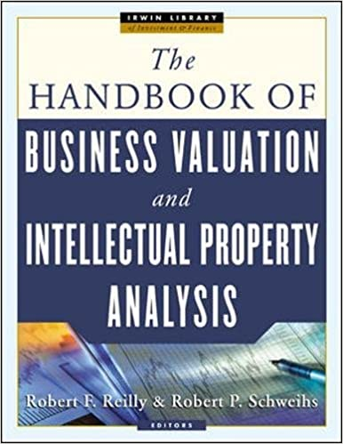 THE HANDBOOK OF BUSINESS VALUATION AND INTELLECTUAL PROPERTY