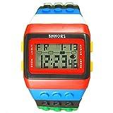 HWCOO WEIDE SHHORS Middle School Student Watch Rainbow Multi-Function Electronic Watch Wholesale 30 Meters Waterproof Watch (Color : 1)