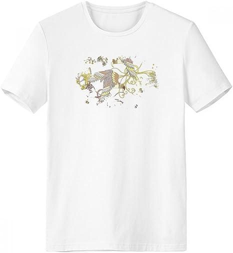 DIYthinker Deja la Flor del árbol del pájaro de Ukiyo-e Pincel Escote de la Camiseta Blanca sin Etiquetas Comfort Deportes Camisetas de Regalos - Multi - XXXL: Amazon.es: Deportes y aire libre