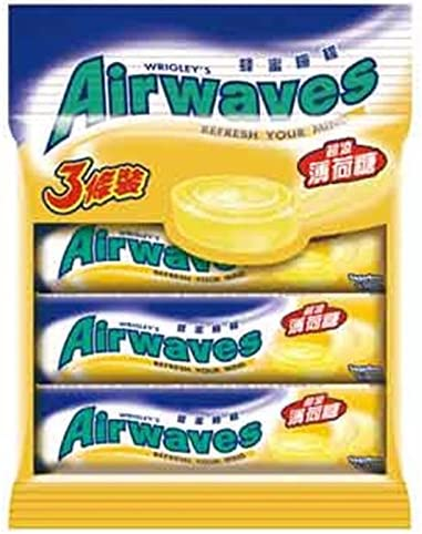 《Airwaves》 超涼薄荷糖-蜂蜜檸檬(3個入) (クールミントキャンディ・蜂蜜レモン味)《台湾 お土産》 [並行輸入品]