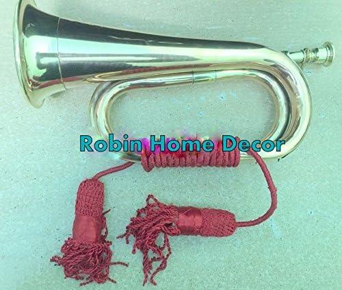 ロビンexports Bugle真鍮with銅ヴィンテージMilitary信号トランペットBugle Instrument