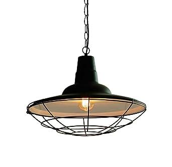 Lámpara de hierro LED barra negra iluminación de pasillo lámpara ...