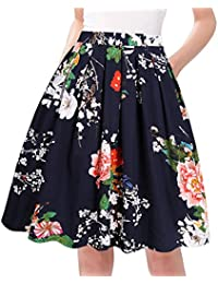 A-Line Pleated Vintage Skirts Women