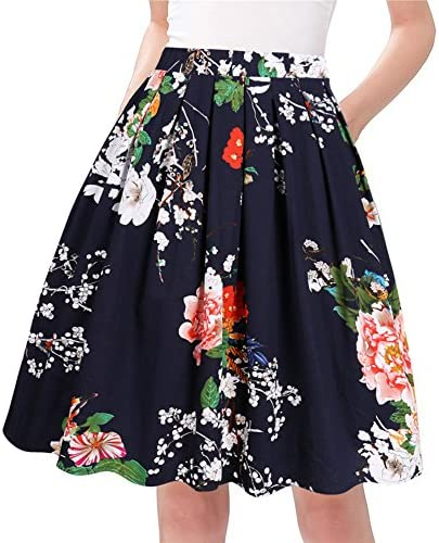 Taydey Line Pleated Vintage Skirts for Women