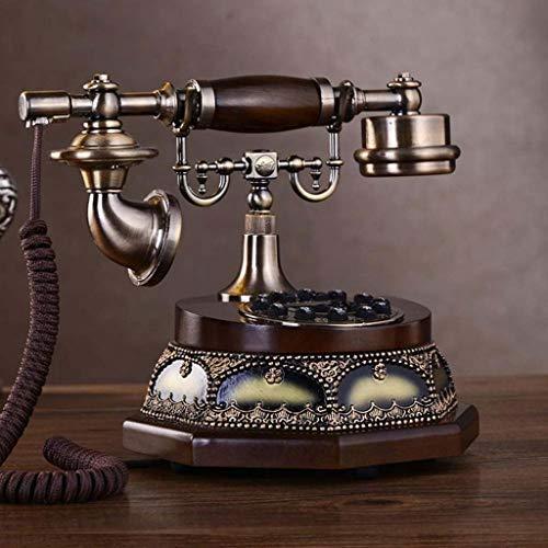 Qdid Antique Telephone Corded Phones Fashion High-end European Home Retro Telephone Landline American Classical L26cmxW19.5cmxH21cm from Qdid