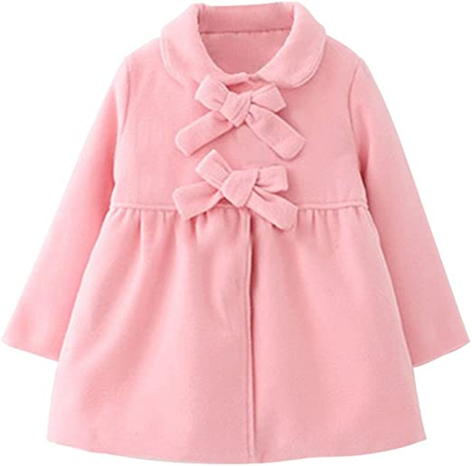 Mud Kingdom Little Girls Peacoat Faux Wool Dress Coat Slim