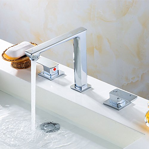 (Double Lever Sink&Bathtub Faucet - Brass with Chrome Finish (C-83H25-CHR-A))