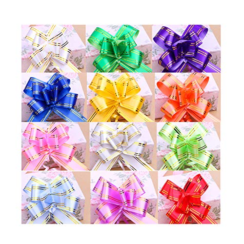 CellCase 100pcs Assorted Color Gift Pull Bows Gift Wrap Ribbons for Easter, Christmas, Birthdays, Wedding, Party