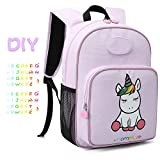 MOMMORE Cute Unicorn Kids Backpack Preschool Toddler Backpack for 3-7 Years Old Girls, Purple