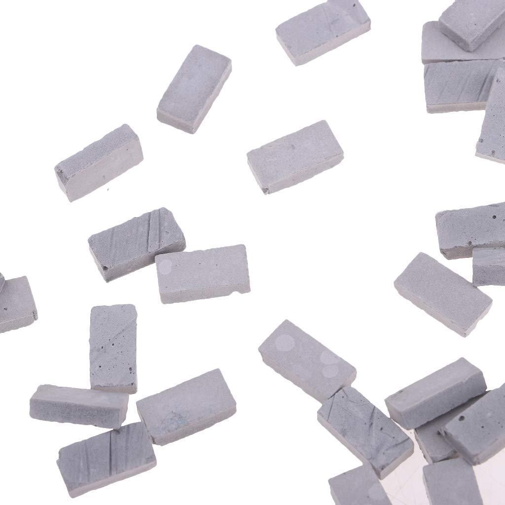 1//35 Sand Table Armor Land Lamdscape Building 50x Gray Brick Model 1.1x0.6cm