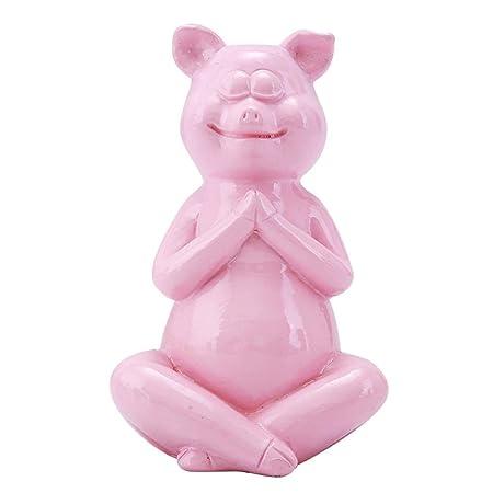 FENGMANG Yoga Cerdo Resina artesanía Regalos decoración del ...