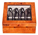 OYOBox Luxury Eyeglasses Eye Wear MIni Burl Lacquer Finish Wooden Organizer Box