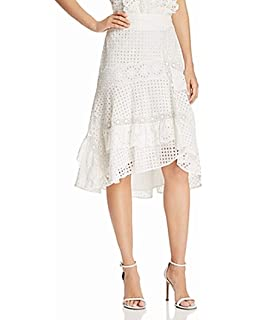 9d6c695bb Joie Women's High Low Stretch Eyelet Knit Skirt