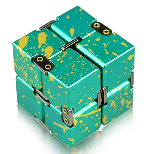 HELESIN Infinity Cube Fidget Toys Relaxation Office Stress Reducers for ADD, ADHD, Anxiety, Autism Adult & Kids, Aluminium Alloy, Camouflage