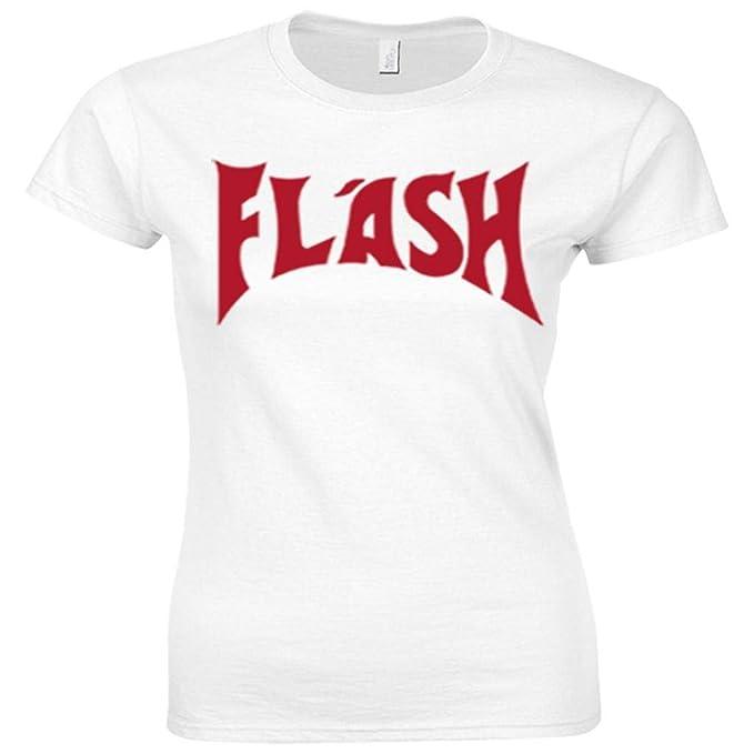 urbanas de Shaolin Mujeres 80S flash Gorden (Freddie Mercury) Equipada T Shirts, mediana