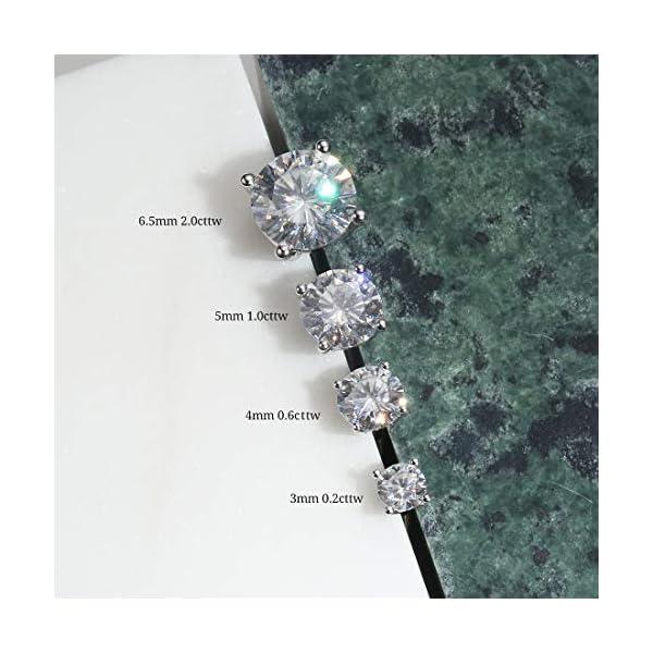 FANCIME Pendientes de Mujer en Oro Blanco 14 k (585) y Moissanite D-E Color VVS Clarity FANCIME Pendientes de Mujer en Oro Blanco 14 k (585) y Moissanite D-E Color VVS Clarity FANCIME Pendientes de Mujer en Oro Blanco 14 k (585) y Moissanite D-E Color VVS Clarity