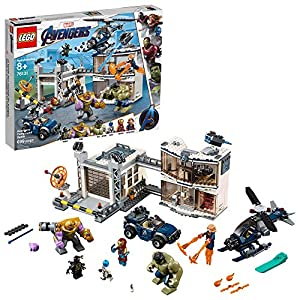 LEGO Marvel Avengers Compound Battle 76131 Building Set includes Toy Car, Helicopter, and popular Avengers Characters…