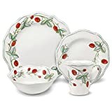 Pfaltzgraff Strawberry Vine 16 Piece Dinnerware Set, Service for 4