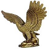 Chinese Handicrafts Handmade Brass Fortune Eagle Statue Decoration Gift Golden Finish Collectible Figurines