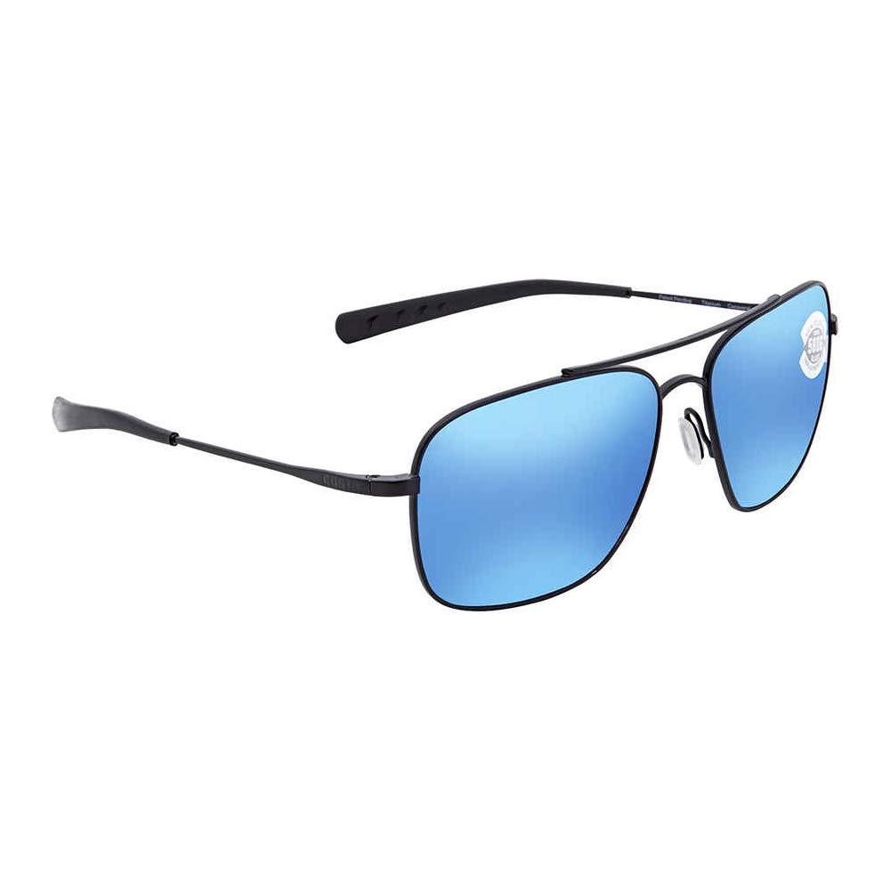 Costa Del Mar Canaveral Sunglasses Satin Black/Blue Mirror 580Glass