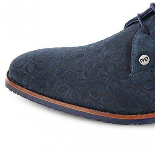 Fb Mode Laarzen Afkickkliniek Valk Art Deco Donkerblauwe Lage Schoenen Voor Mannen Blue Suede Shoes Donkerblauw