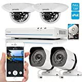Zmodo 8CH 720P HD Network Home Security Camera System with 2x Outdoor  2x Indoor Dome Surveillance Camera 500GB Hard Drive
