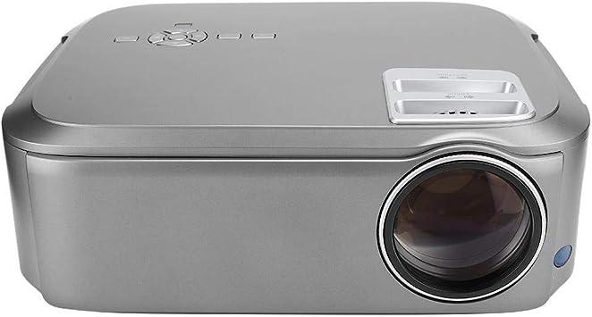 Opinión sobre Proyector, LCD 1080P Proyector HD Pantalla Grande Cine en casa Interfaz de Salida de Audio de 3,55 mm(Gray)