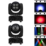 Lixada 5LED 50W RGBW Spot Double Sides Beam Wash Infinite Rotating Moving Head Stage Light 15 / 21 Channel DMX 512 Pattern Lamp for Indoor Disco KTV Club Party