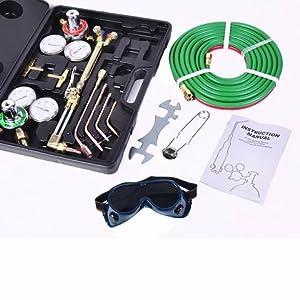 Toolsempire Gas Welding & Cutting Kit Oxygen Torch Acetylene Welder Victor Type Tool Set from Toolsempire