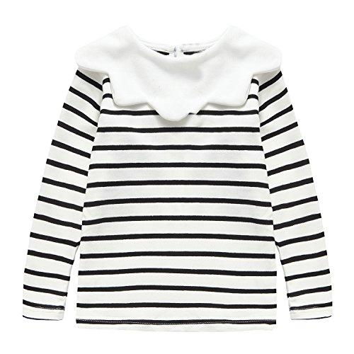 Baby Toddler Girl Tops Shirt, Cotton Bottom Long Sleeve Tees Size,Black White,80cm (9-12M)