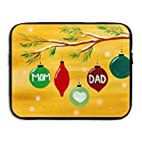 Ministoeb Love Mom and DAD Laptop Storage Bag - Portable Waterproof Laptop Case Briefcase Sleeve Bags Cover