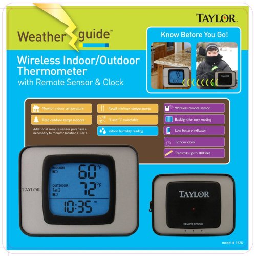 Taylor Wireless Indoor/Outdoor Thermometer, Hygrometer by Taylor Precision Products
