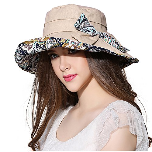 f42f2d7c659 Women Wide Brim Sun Hat Summer Outdoor Foldable Beach Cap - Import ...