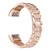 Watch Strap Band for Fitbit Charge 2 Smart Watch,TenYun Bling Bling Crystal Stainless Steel Watch Band Wrist Strap For Fitbit Charge 2 Smart Watch