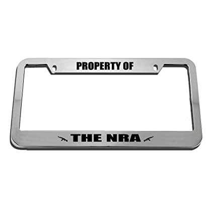 Amazon.com: Speedy Pros Property Of The Nra License Plate Frame Tag ...