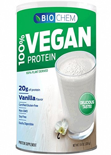 Biochem 100  Vegan Protein Powder  Vanilla  11 4 Ounce