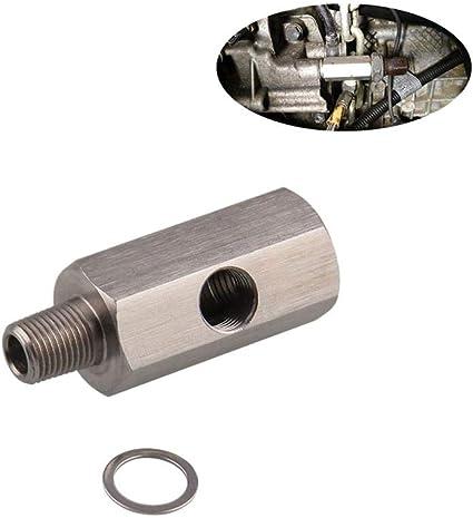 AITOCO Adaptador de Sensor de presi/ón de Aceite de Coche Adaptador m/étrico DE 1//8 NPT de Acero Inoxidable
