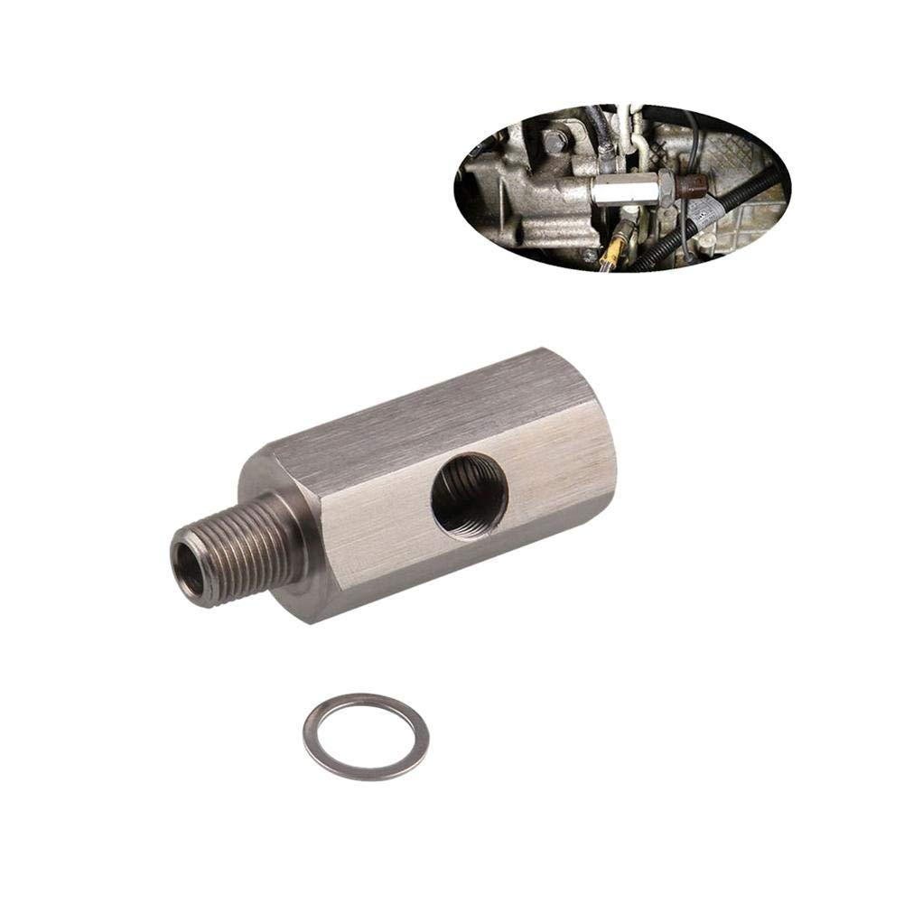 Connettore sensore automobilistico 1/8 'BSPT Sensore pressione olio Tee to NPT Adattatore Turbo Supply Feed Line iBaste-automotive