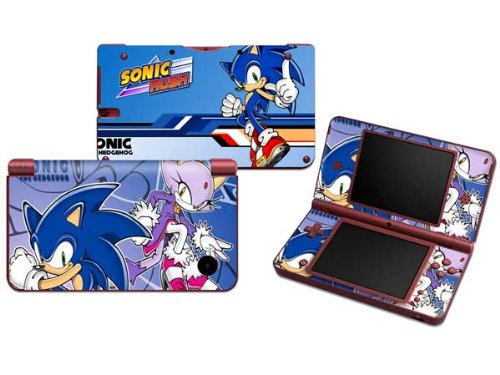 Sonic Rush Protective Decals Vinyl Skin Sticker for Nintendo NDSI XL LL