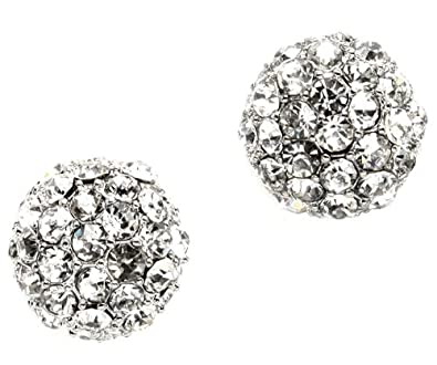 Fashion Jewelry Jewelry Sets Lovely Fashion Round White Crystal Cluster Studs 20mm
