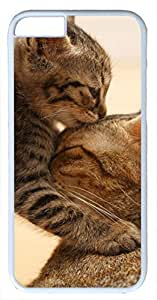 Animals Cat Kitten Muzzle Ears Cute Case for iPhone 6 Plus 5.5 inch PC Material White(Compatible with Verizon,AT&T,Sprint,T mobile,Unlocked,Internatinal) by runtopwell