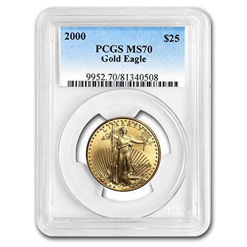 2000 1/2 oz Gold American Eagle MS-70 PCGS Gold MS-70 PCGS
