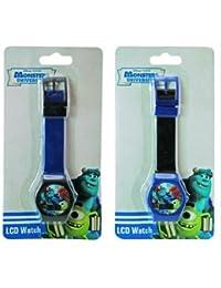 LCD Digital Boys Wrist Watch x 2 (1 Blue 1 Red)