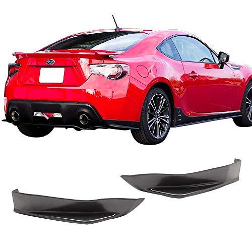 (Rear Bumper Lip Splitters Fits 2013-2017 Scion FR-S & Subaru BRZ | PU Unpainted Black Rear Diffuser Bumper Protection by IKONMOTORSPORTS)