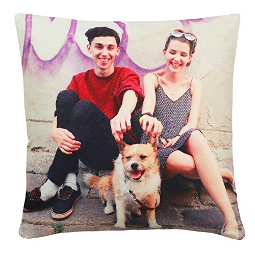 Customized Pillow with Picture Including Pillow Insertion Design for Your Own Photo Print Soft and Comfortable to Enjoy Deep Sleep (16X 16)