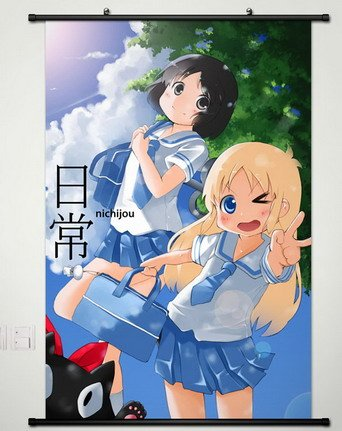 Decor Anime Nichijou no 0-wa Sakamoto Hakase Nano poster wall Scroll Cosplay -012 (17.7 X 23.6 Inches)