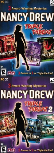 Nancy Drew Triple Threat 1 & 2 - Royal Tower / Final Scene / Scarlet Hand / Ghost Dogs / Haunted Carousel / Deception Island