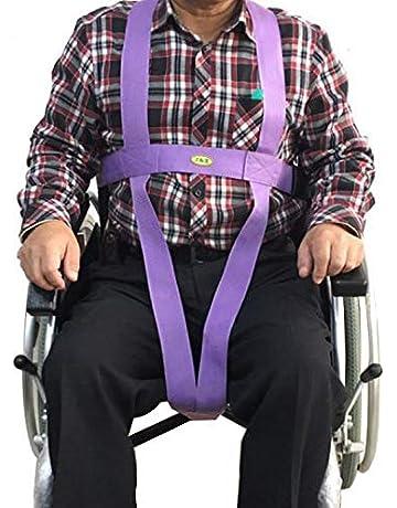 SXTYRL cinturón de Seguridad para Silla de Ruedas Correa Cinturón de sujeción Abdominal con Hebilla automática