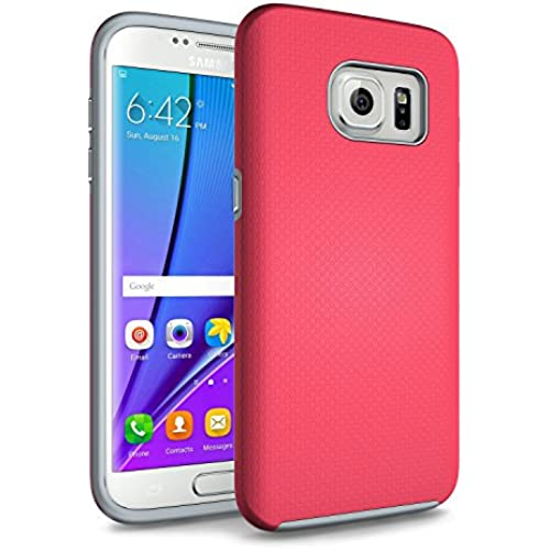 Galaxy S7 Edge Case, technext020 Hybrid Dual Layer Silicone Bumper Slim Fit Protective Cover for Samsung Galaxy Sales
